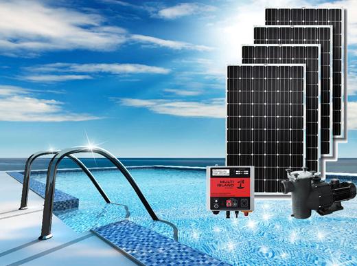 Pompa solare per piscina a energia fotovoltaica freewater - Pannelli solari per piscina ...